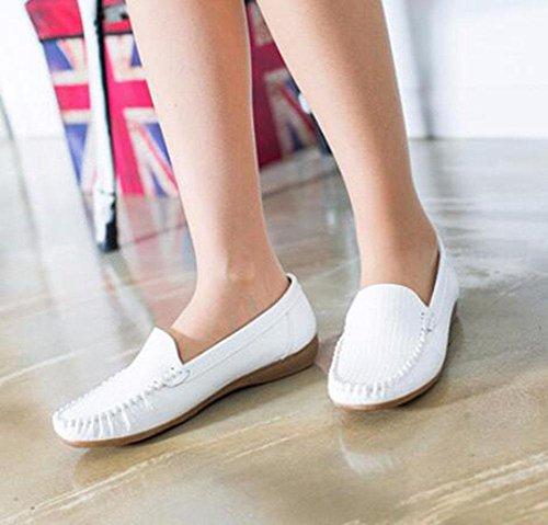 KUKI Runde Kopfschuhe bequeme atmungsaktive Casual flache Schuhe , 3 , US6.5-7 / EU37 / UK4.5-5 / CN37