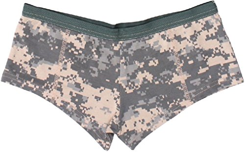 - Womens ACU Digital Camouflage Booty Camp Slim Fit Booty Shorts Underwear