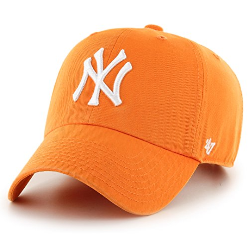 Relax Ajustable Gorra Curved Mlb V Fit New brand talla naranja York 47 Yankees Clean Up 6wZq1vC