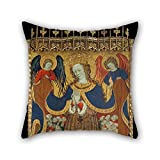 Slimmingpiggy 18 X 18 Inches / 45 By 45 Cm Oil Painting Bonanat Zaortiga - Virgin Of Mercy Throw Pillow Covers ,twice Sides Ornament And Gift To Wedding,dance Room,seat,couples,monther,chair