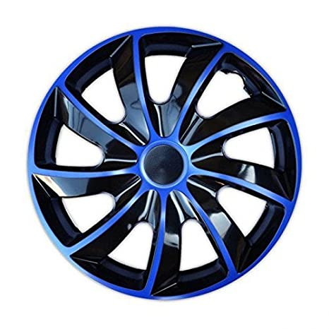 Tapacubos QUAD BICOLOR AZUL - Mitsubischi - Nissan - Opel - Peugeot - 4pzs (16""
