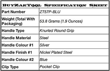 ZAK Tool ZT-57P Pocket Window Punch Blue
