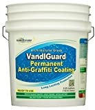 Rainguard International VG-7000 5 gal Ready to Use Vandlguard Non-Sacrificial Anti-Graffiti Coating – Painted & Unpainted Concrete, Block, CMU, Brick, EIFS, Stucco, Wood & Painted, Clear