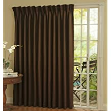 Eclipse 12109100X084ESP Thermal 100 Inch By 84 Inch Blackout Single Patio  Door Curtain Panel