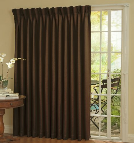 - Eclipse 12109100X084ESP Thermal 100-Inch by 84-Inch Blackout Single Patio Door Curtain Panel, Espresso