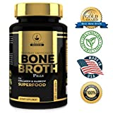 (US) Bone Broth Powder Superfood Pills (1 Bottle/180 capsules) Organic Dehydrated Grassfed Beef + Chicken Powder Protein Blend + Collagen. Free Shipping. 30 Day Supply. Don't Hassle with Cooking