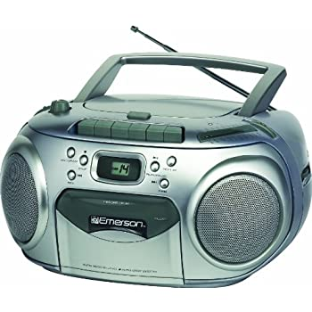 Emerson Portable Radio CD Player with Cassette Recorder (PD6548SL)