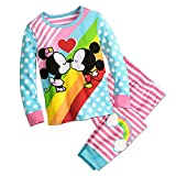 Disney Mickey and Minnie Mouse Kiss PJ Pals Pajamas Size 4