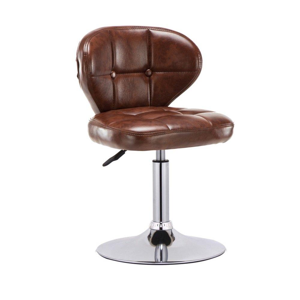 カウンターチェア座席の高いスツールバーキッチン朝食ダイニングチェア背もたれの椅子は、PUレザーバックレスト(ブラウン)で上下に/スイベルチェアを持ち上げることができます (サイズ さいず : Large:41cm*41cm*63-83cm) B07DJ6HLWD Large:41cm*41cm*63-83cm Large:41cm*41cm*63-83cm
