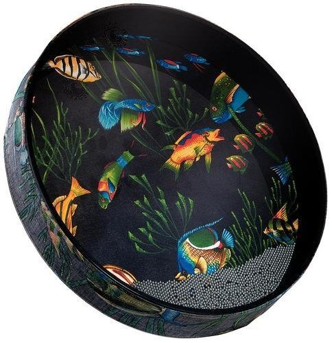 Remo OCEAN DRUM, 22'' Diameter, 2 1/2'' Depth, Fish Graphic by Remo