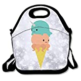 Best PackIt Ladies Lunch Bags - Narwhal Octopus Ice Cream Lunch Tote Insulated Reusable Review