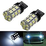 iJDMTOY (2) 360° 27-SMD-5050 7440 7441 7443 7444 T20 LED Bulbs For Turn Signal Lights, Daytime Running Lights, Reverse Lights, Xenon White