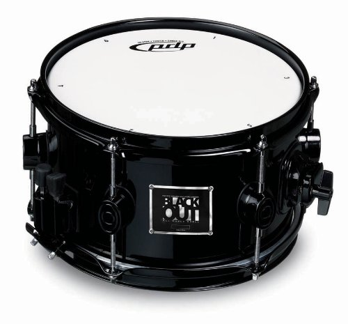 Pacific Drums PDBB0610 6 x 10 Inches Maple Shell - Black by Pacific Drums