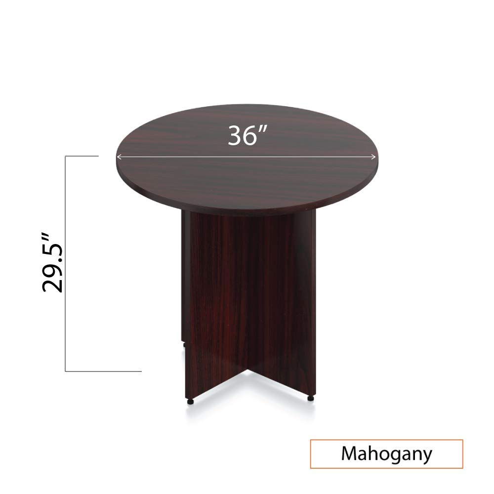 GOF 36'' Round Table (36W x 36D x 29.5H), Cherry, Espresso, Mahogany, Walnut (Mahogany) by GOF (Image #3)