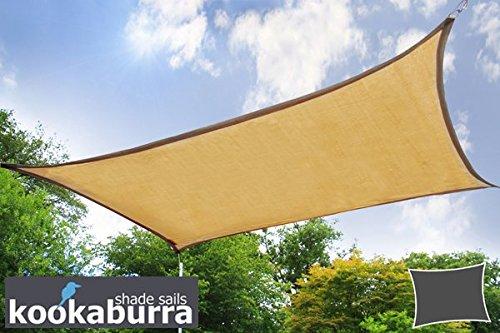 クッカバラ 砂色通気性日除けシェードセイル(ニット織) - 紫外線93.3%カット - (3m正三角形) - OL0117SST B007ITEJIU 19995 3m正三角形  3m正三角形