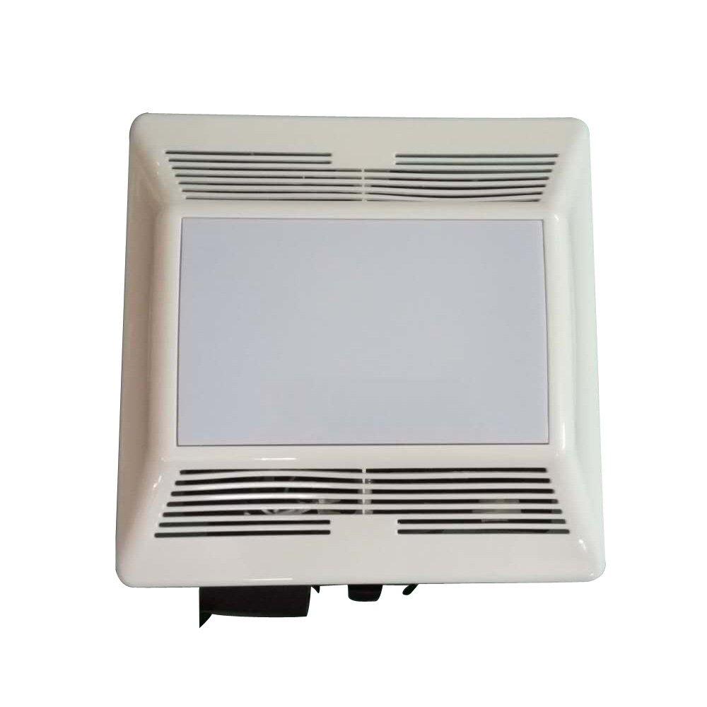 meite MB14L-70 Recessed Exhaust Ventilation Fan with Fluorescent Light, Quiet Motor, 0.7 Sones, 70 CFM White Bathroom Fan by meite