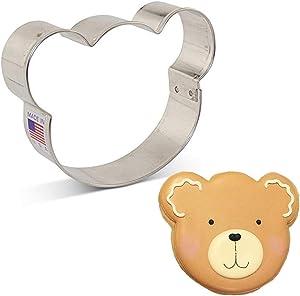 Ann Clark Cookie Cutters Bear/Koala/Panda Face Cookie Cutter, 3.5