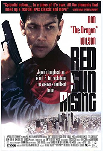 Red Sun Rising Poster Don The Dragon Wilson Terry Farrell Mako