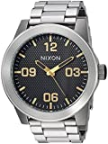 Nixon Men's 'Corporal SS' Quartz Stainless Steel Casual Watch, Color Silver-Toned (Model: A3462730)