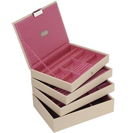 LC Designs Stackers Classic - Juego de bandejas apilables para joyería (4 unidades, tamaño