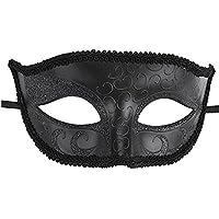 Maske_Masque de Vénitien Mascarade Carnaval Pour Hommes , Noir