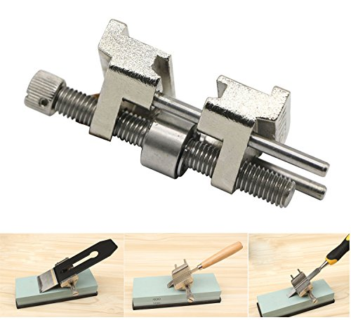 LepoHome Stainless Steel Honing Guide for Wood Chisel Fixed Angle Knife Sharpener Planer Blade Sharpening(Clamping Width Range 0.2''-3.2'')
