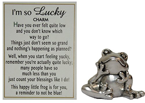 I'm So Lucky Zinc Frog Pocket Charm w/ Story Card by -
