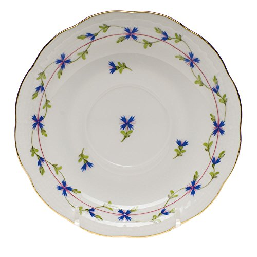 Herend Blue Garland Tea Saucer - Blue Garland Saucer
