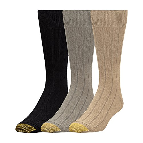 - Gold Toe Men's Hampton, 3 Pack, Khaki/tan/Black, Sock Size: 10-13/Shoe Size:9-11