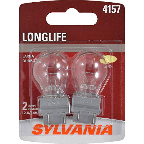 SYLVANIA - 4157 Long Life Miniature - Bulb, Ideal for Daytime Running Lights (DRL) and Back-Up/Reverse Lights (Contains 2 Bulbs)