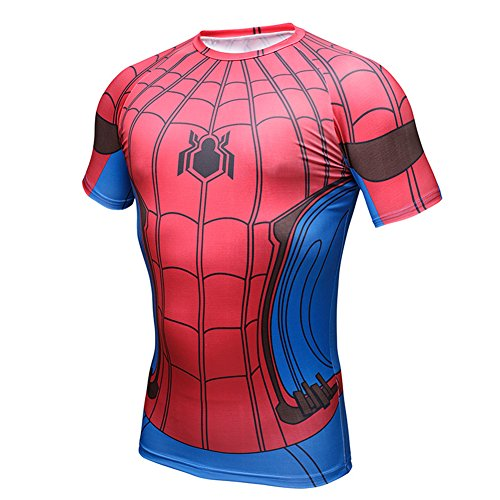 Spider Man Sport 3D T-Shirt Superhero Marvel Costume Gym Athletic Cycling  Jersey bcf81ded2