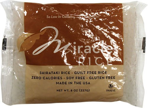 Miracle Noodle Miracle Rice Gluten Free Shirataki Rice , 8 Ounce, Pack of 6
