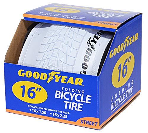 Goodyear Folding Bead Bicycle Tire, 16 x 1.5/2.25, White (16 Bike Tire)