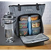 Fit & Fresh JAXX FitPak Meal Prep Lunch Bag with Portion Control Containers & Shaker...