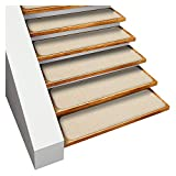 carpet for stairs House, Home and More Set of 15 Skid-resistant Carpet Stair Treads - Ivory Cream - 8 In. X 30 In. - Several Other Sizes to Choose From