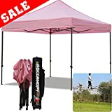 Cheap (5+Colors)ABCCANOPY Commercial 10X10 FT Outdoor Pop Up Portable Shelter Instant Folding Canopy Tent (PINK)