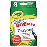 Wholesale CASE of 25 - Crayola Washable Dry-Erase Crayons-Dry Erase Crayons, Washable, Nontoxic, 8/BX, Assorted