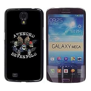 COVERO Samsung Galaxy Mega 6.3 I9200 SGH-i527 / Avenged Sevenfold / Prima Delgada SLIM Casa Carcasa Funda Case Bandera Cover Armor Shell PC / Aliminium