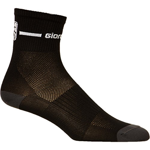 Sock Mid Trade Cuff - Giordana Trade Mid Cuff Socks Black/White, M - Men's