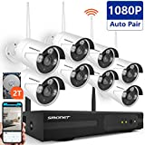 [Full HD] Wireless Surveillance Camera System, SMONET 8CH 1080P HD Outdoor Security Cameras Video System-8PCS 2.0MP Weatherproof Bullet IP Cameras,P2P,65ft Night Vision, 2TB HDD Review