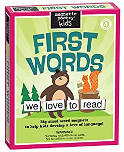 Magnetic Poetry - First Words Kit - Words for Refrigerator - Write Poems and Letters on the Fridge - Made in the USA