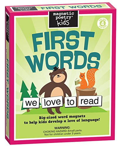 (Magnetic Poetry - Kids First Words Kit - Ages 4 and Up - Words for Refrigerator - Write Poems and Letters on The Fridge - Made in The USA)