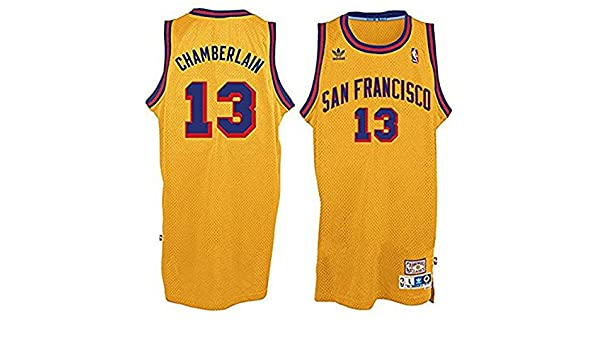 19dc9b4af22 ... Mens Yellow Jersey XXL Amazon.com Wilt Chamberlain 13 San Francisco  Warriors Adidas Hardwood Classics Youth Jersey Clothing ...