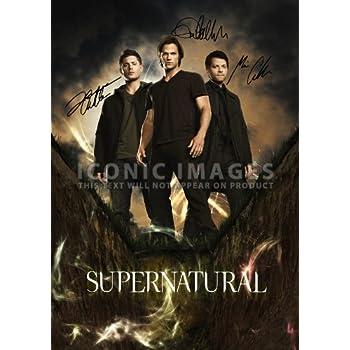 Large Supernatural Tv Print Jensen Ackles Jared Padalecki Misha Collins 117 X 165