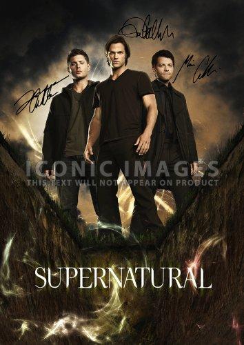 - Supernatural Tv Print Jensen Ackles Jared Padalecki Misha Collins (11.7