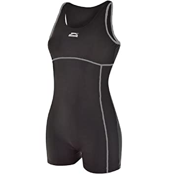 Ladies Slazenger Boyleg Swimsuit Swimming Costume Womens Long Leg
