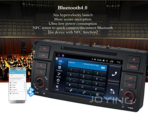 JOYING 7 inch GPS Radio Android Car Stereo for BMW E46 3