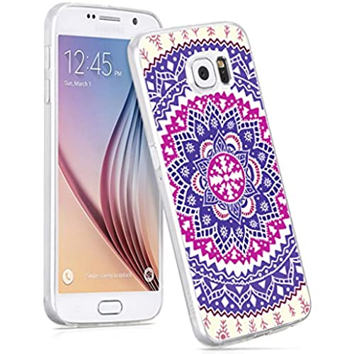 S7 Case,IWONE Samsung Galaxy S7 Case Tpu Skin Cover Protective Rubber Silicone Wonderful Floral Texture Print Design For Girls Women Sales