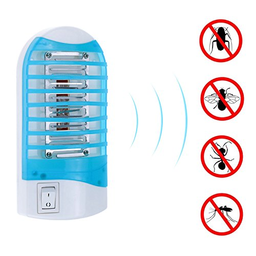 TedGem Mosquito Killer Lamp Bug Zapper Electronic Insect Killer Indoor - Eliminates Most Flying Pests with Night Lamp - 4 Pcs (1 pcs)