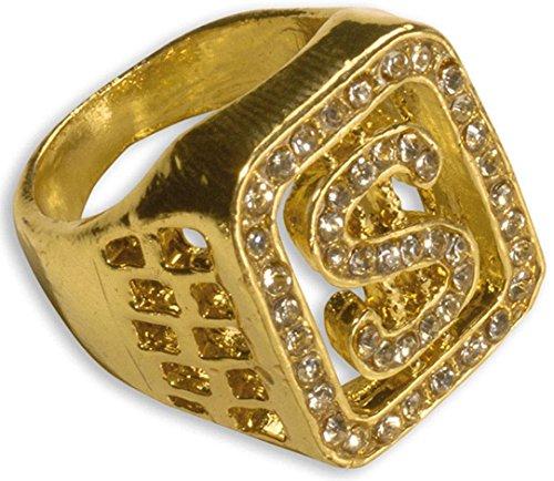 Mens Diamante $ Ring Accessory For 70s Elvis Vegas Fancy (70s Vegas Costumes)